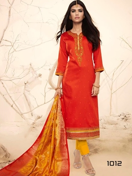Picture of 1012 Red Designer Straight Suit