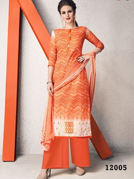 Picture of 12005 Orange Designer Plazo Suit