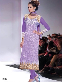 Picture of 3205 Lavender Designer Straight Suit