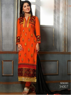 Picture of 34007 Saffron Designer Striaght Suit