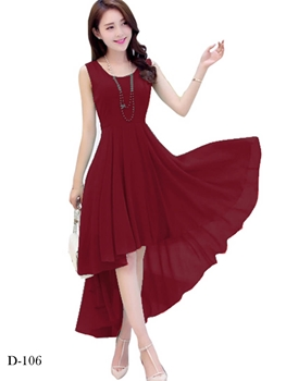 Picture of D106 Maroon Designer Western Wear Dress