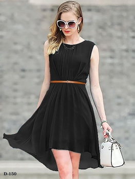 Picture of D150 Black Designer Western Wear Dress