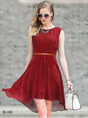 Picture of D151 Maroon Designer Western Wear Dress