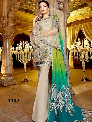 Picture of 1147 Designer Georgette Pakistani Style Indian Suit Pakistani Style Indian Suit