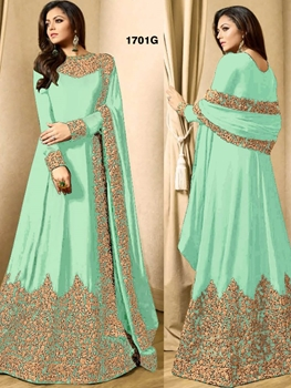 Picture of 1701G AquaGreen Designer Anarkali Replica Suit