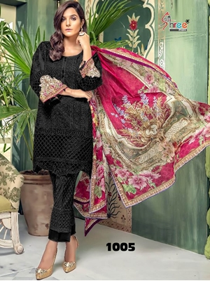 Picture of 1005 Designer Schiffly Work Pakistani Style Indian Suit
