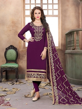 Picture of Purple Georgette Gota Patti Ceremony Pakistani Salwar Kameez