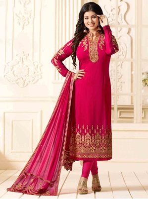 Picture of Pink Georgette Multi Formal Pakistani Salwar Kameez