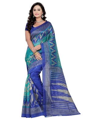 Picture of Multicolor Bhagalpuri Silk Printed Saree Saree