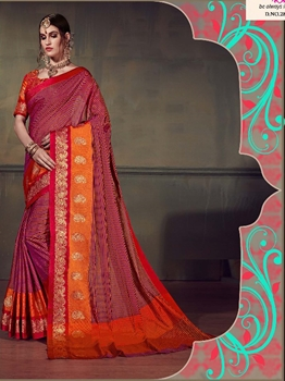 Picture of Maroon Cotton Silk Thread Wedding & Bridal Designer Saree
