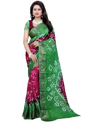 Picture of Green Art Silk Thread Designer Saree