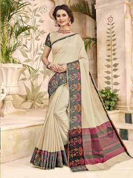 Picture of Beige Art Silk Thread Designer Saree
