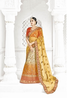Picture of Multicolor Silk Beads Wedding & Bridal Designer Lehenga Choli