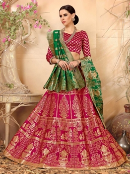 Picture of Pink Silk Thread Party Designer Lehenga Choli