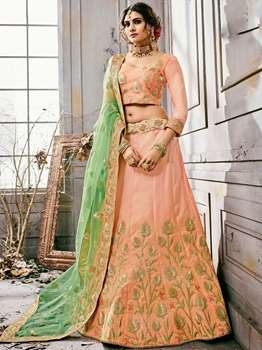 Picture of Pink Fancy Multi Party Designer Lehenga Choli