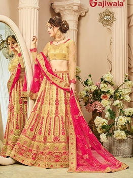 Picture of Beige Net Embroidery Designer Lehenga Choli