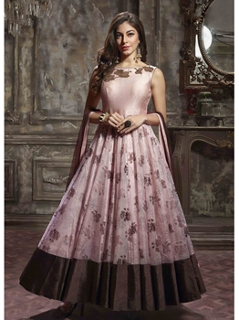 Picture of Multicolor Silk Embroidery Ceremony ALine Gown