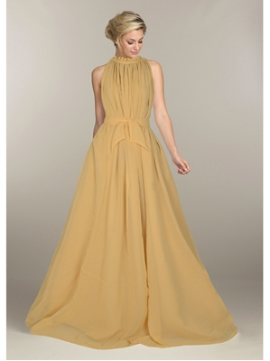 Picture of Beige Georgette Solid Party ALine Gown