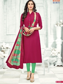 Picture of 15005 Maroon Casual Stitched Kurti
