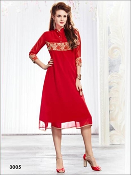 Picture of 3005Red Designer Kurti
