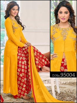 Picture of BOD 95004Turmeric Yellow Exclusive Designer Suit