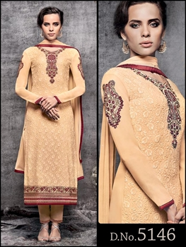Picture of 5146Beige Designer Function Wear Straight Suit