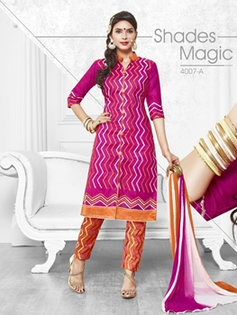 Picture of 4007A Magenta Exclusive Fancy Straight Suit