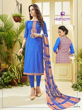 Picture of 11004 Blue Exclusive Fancy Designer Straight Suit