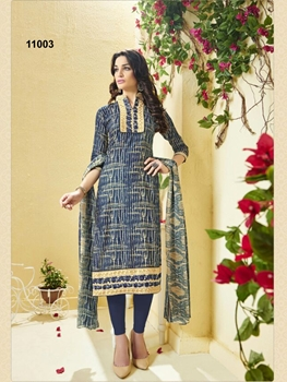 Picture of 11003 Dark Blue Exclusive Fancy Designer Straight Suit