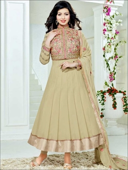 Picture of 7852DarkKhaki Exclusive Fancy Function Wear Designer Anarkali Suit