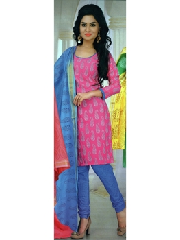 Picture of 3007 Pink Designer Daily Wear Salwar Suit
