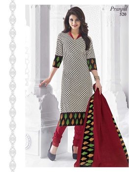 Picture of 520 White Designer Salwar Suit
