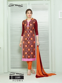 Picture of 2285Maroon Designer Fancy Exclusive Occassional Wear Straight Suit