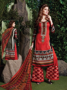 Picture of 10 Red Designer Palazzo Suit
