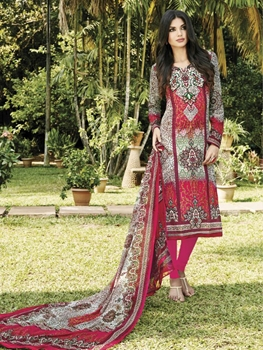 Picture of 37001A Red and Multicoloured Straight Suit
