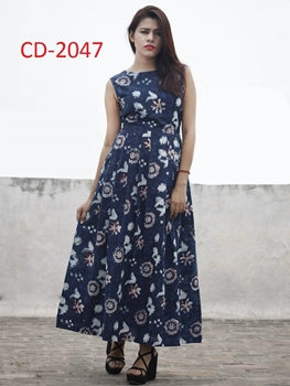 Picture of CD2047 Dark Blue Designer Maxi Dress