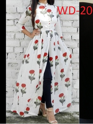 Picture of WD2005 White And Red Designer Maxi Dress