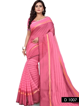 Picture of 1007 Pink Traditional Wear Cotton Silk Saree