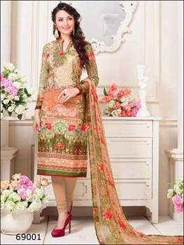 Picture of 69001Designer Multicolor Printed Straight Suit