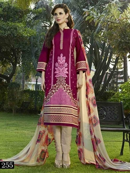Picture of 255 Pink and Light Yellow Pakistani Suit