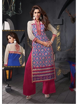 Picture of 9303Pink and Blue Straight suit