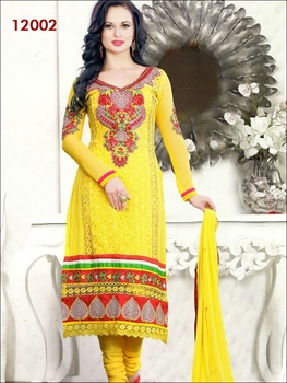 Picture of 12002Yellow and Red Geogette Straight Suit