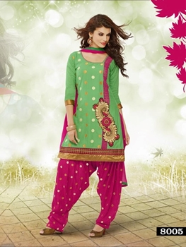 Picture of 8005 Designer Light Green Patiyala Suit