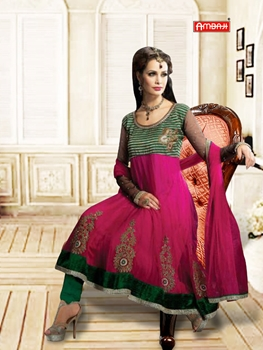 Picture of 1203Magenta and Green Anarkali Suit