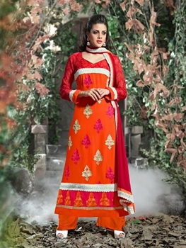 Picture of 8005Orange and Red Straight Suit
