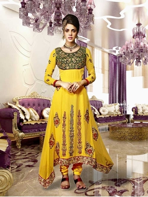 Picture of 8005Yellow and Golden Designer Suit