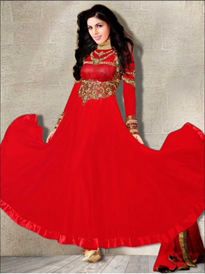 Picture of 72004Red and Golden Anarkali Suit