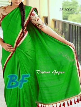 Picture of BF2006I Parrot Green Function Wear Chanderi Cotton Saree