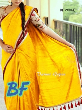 Picture of BF2006E Yellow Function Wear Chanderi Cotton Saree
