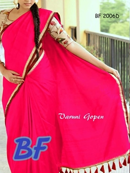 Picture of BF2006D Rani Function Wear Chanderi Cotton Saree